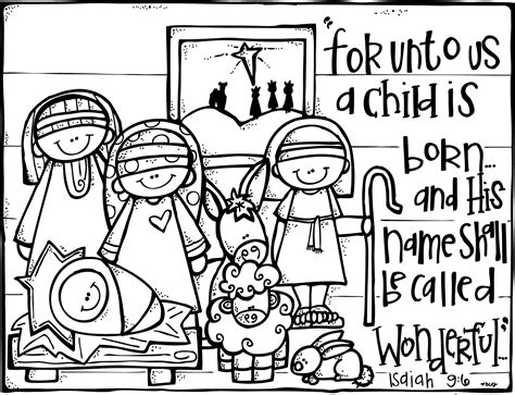 Melonheadz November 2012 Printable Nativity Coloring Pages