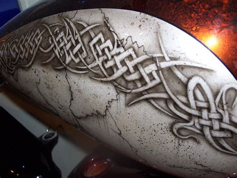 Airbrush Motive Motorrad by Custom Airbrush Painted Tribal And Celtic Designs By Bad