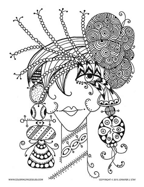 Icolor Quot Whimsical Quot On Pinterest Flower Collage Coloring Whimsical Tree Coloring Page