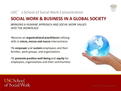 Social Work Business adventures in social work in business environments