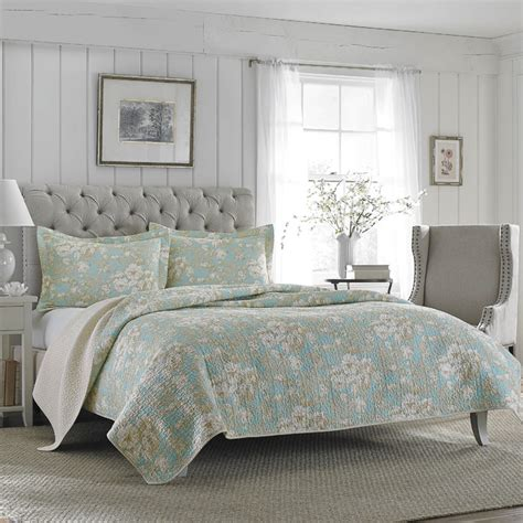 laura ashley quilts and coverlets laura ashley brompton serene reversible cotton quilt set