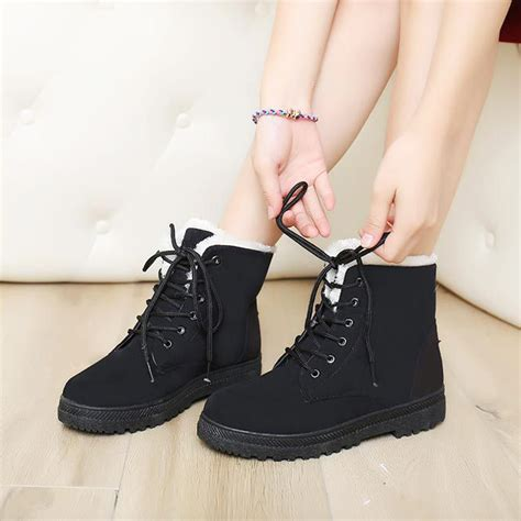 Sepatu Plat Shoes Wanita 14 snow boots winter ankle boots shoes plus velvet plat