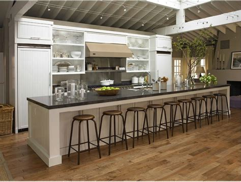 Long Kitchen Islands by Now That Is A Long Kitchen Island What I Need For My