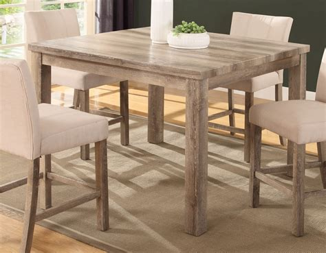 weathered wood dining table sanders 48 quot counter height dining table in