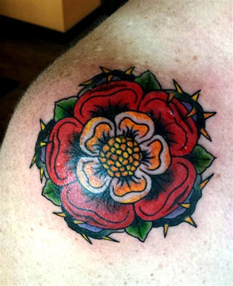tudor rose tattoo tudor on tudor tattoos tudor