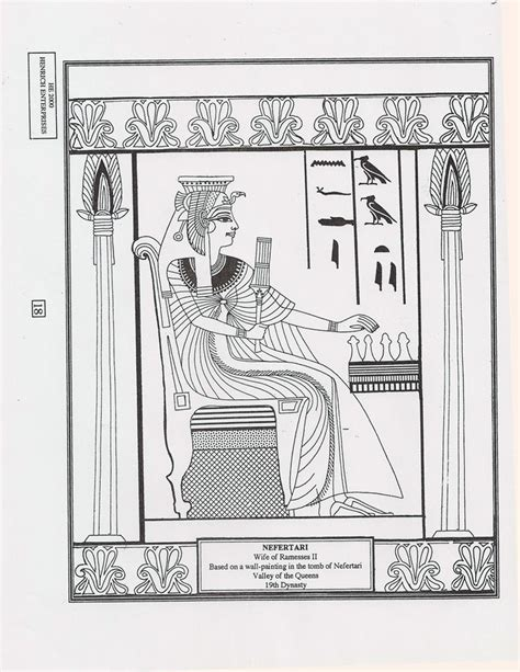 coloring pages for egyptian hieroglyphs 9 best coloriages adultes egypte images on pinterest