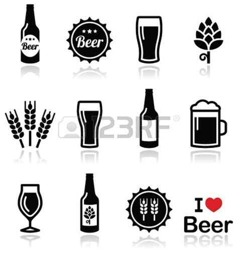 image of beer bottle clipart 4446 beer drawing clipartoons beer vector icons set bottle glass pint stock vector