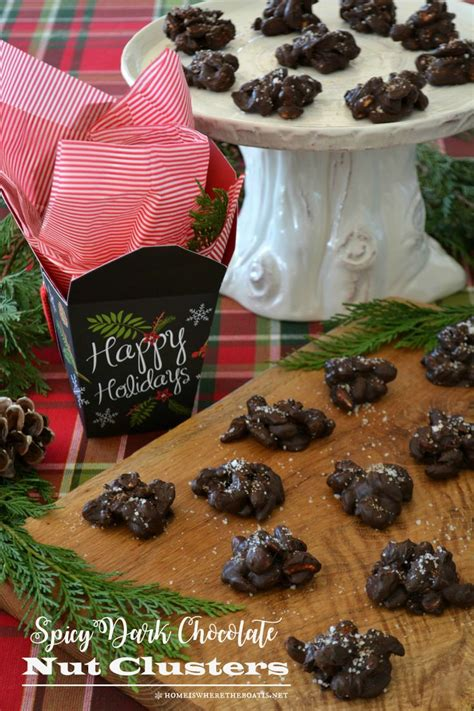 pinterest christmas food gifts easy food gift spicy chocolate nut clusters baking and food