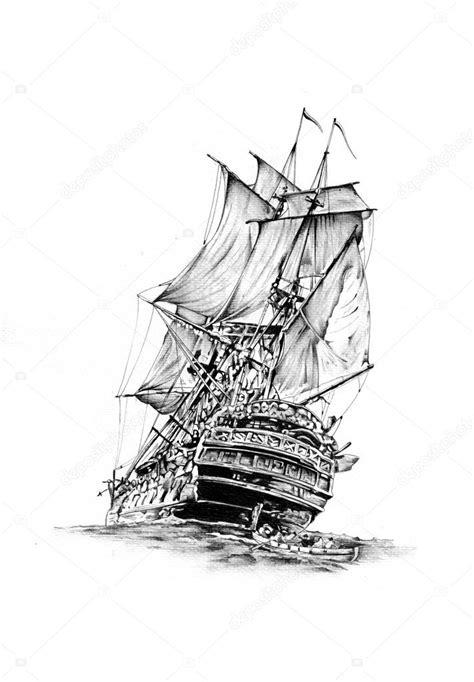 barco pirata dibujo a lapiz dibujos barcos a lapiz dibujo de motivo de mar barco