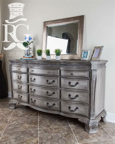 Dresser Painted In Annie Sloan Chalk Paint French Linen Black Painted Bedroom Furniture