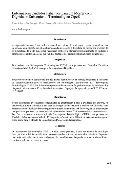 Anais VI Congresso Internacional de Cuidados Paliativos