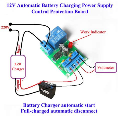 Power Supply 12v 10a Box 12v battery auto charging protection board