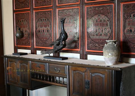 asian home decor lacquerware