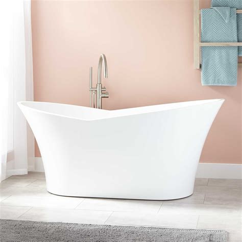 bathrooms with freestanding tubs marsellus acrylic freestanding tub bathtubs bathroom