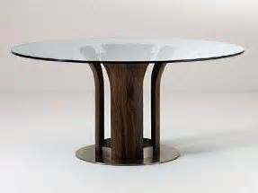 round glass and wood dining table foter