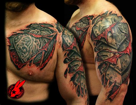 armour tattoo 53 amazing armor shoulder tattoos