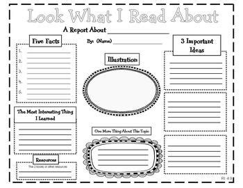 informational book report common reading graphic organizers for informational