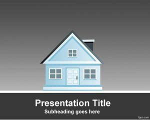 house powerpoint template free house powerpoint templates