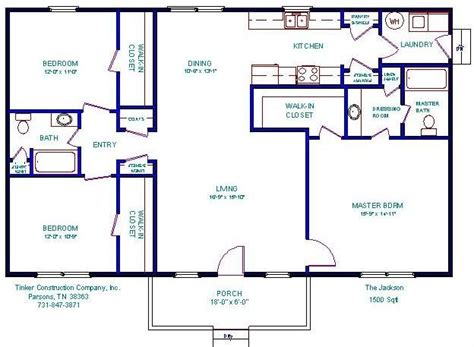 Open Floor Plans Under 1500 Floorplan House Plans 1500 Square Foot Open Floor Plans