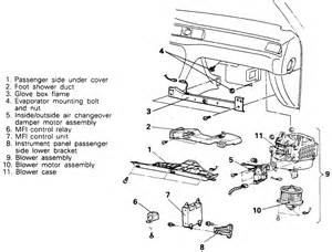96 toyota camry air conditioner duct diagram repair guides blower motor removal installation