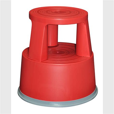 two step plastic safety kick stool fitted with loaded