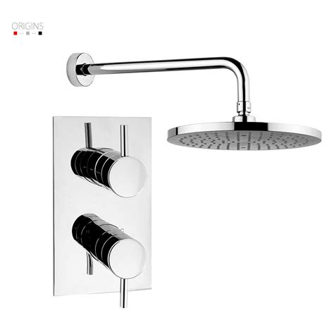 origins fusion thermostatic shower valve with 2 way