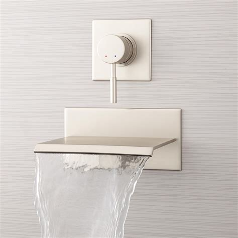 waterfall bathtub faucet wall mount lavelle wall mount waterfall tub faucet bathroom