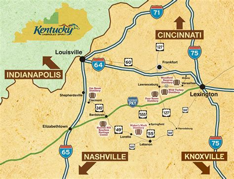 kentucky bike map as the fog lifts fog s road trip the bourbon trail