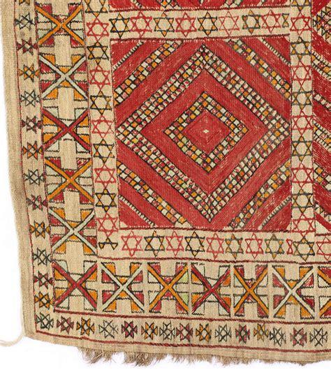 moroccan kilim rugs judaica moroccan bamboo vintage kilim rug with of david at 1stdibs