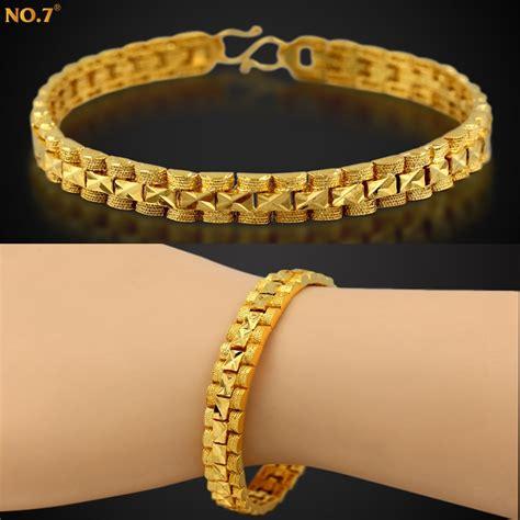 Handmade Chain Bracelets - handmade brand new trendy 18k real rold plated chunky