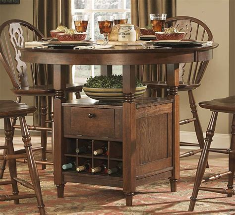 counter height dining sets round table homelegance hutto round counter height dining table 807rd