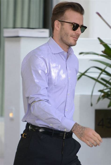 sleeve garter david beckham sports vintage sleeve garters as he heads to
