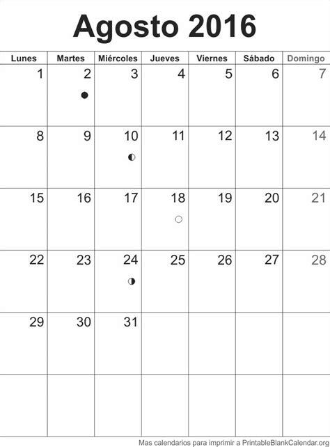 mes de agosto 2016 agenda agosto 2016 calendarios para imprimir