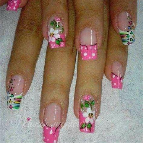 imagenes de uñas acrilicas con flores las mejores 25 dise 241 os de u 241 as con flores mundo manicure