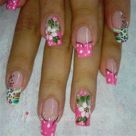 imagenes de uñas acrilicas encapsuladas las mejores 25 dise 241 os de u 241 as con flores mundo manicure