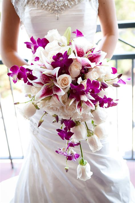 Orchid Wedding Bouquet by Two Ceremony California Wedding By Colson Griffith