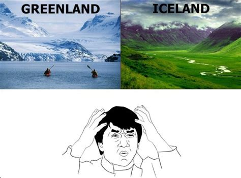 Jackie Chan Confused Meme - iceland and greenland thai iceland