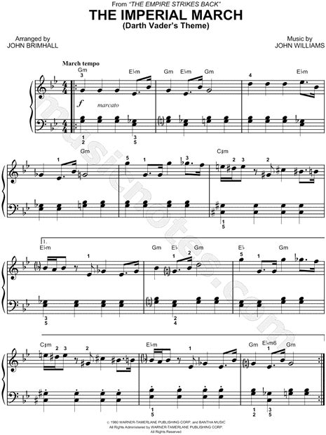 piano tutorial imperial march free star wars quot the imperial march quot sheet music piano