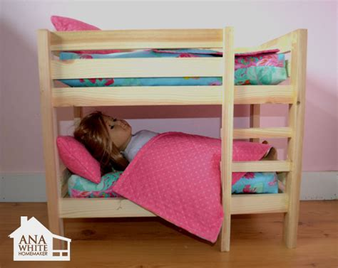 how to make a american girl doll bed ana white doll bunk beds for american girl doll and 18 quot doll diy projects