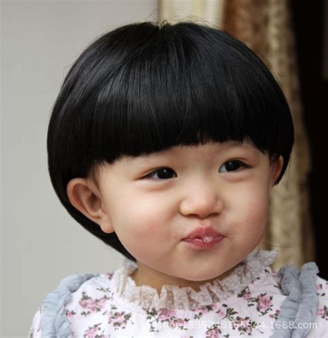 new hair cut of baby girls children s wig straight short hair baby fashion aged 1 to