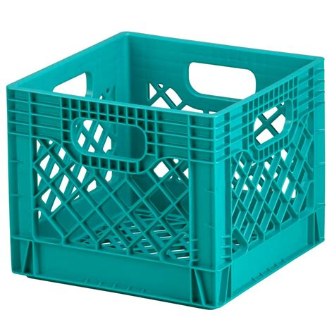 in crate blue milk crate storage the land of nod