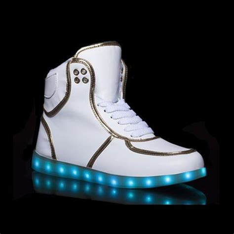 light up shoes mens size 12 adults led light shoes for high tops white