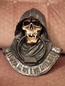 cool door knockers grim reaper door knocker i m planning on hanging it on my