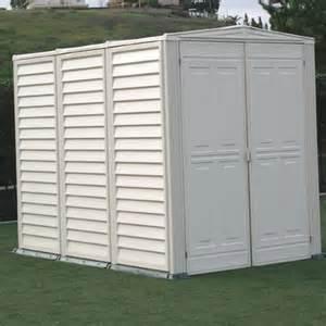 Vinyl Outdoor Storage Sheds Yardmate 5 Ft W X 8 Ft D Vinyl Garden Storage Shed