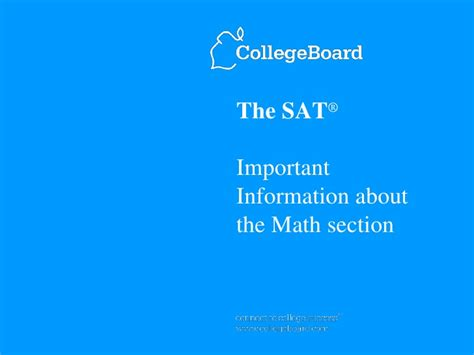sat math section sat math overview from college board