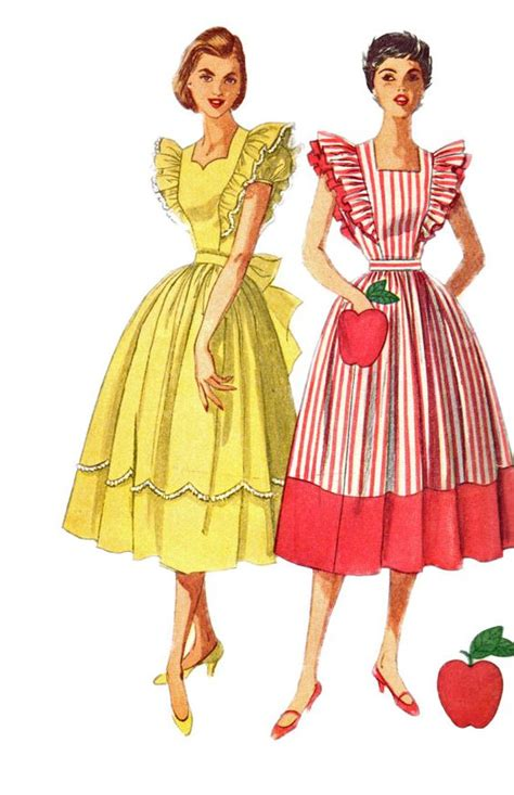sewing pattern ladies pinafore dress simplicity 4138 1950s misses dress and pinafore dress