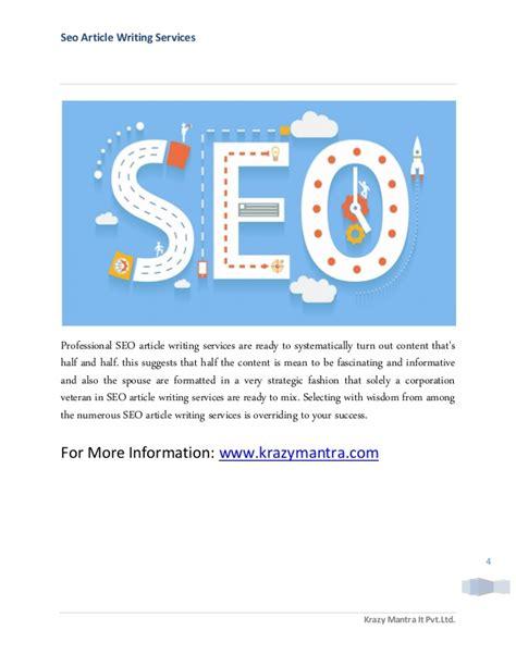 Write 4 Manual Seo professional seo article writing service
