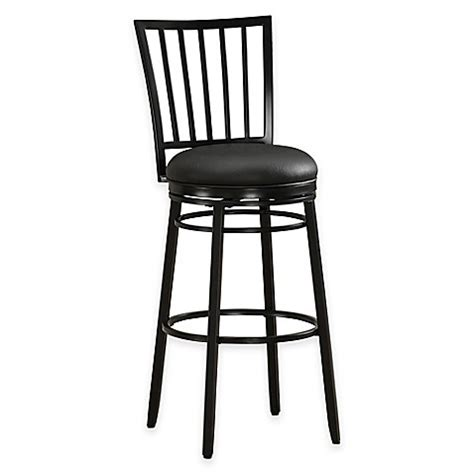 bed bath and beyond easton buy easton bar height swivel bar stool in black from bed