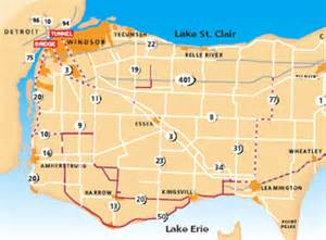 map of essex county ontario canada canada map