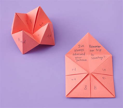 creative mothers day cards to make fortune teller 6 creative s day crafts and card